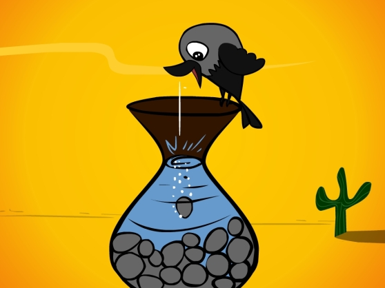 Crow and the pitcher_0014